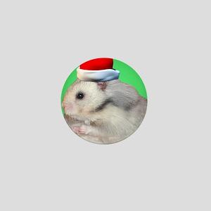 Santa Hamster #2 Mini Button