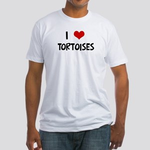I Love Tortoises Fitted T-Shirt