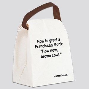 Franciscan Monk Canvas Lunch Bag