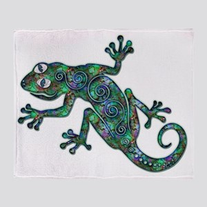 Decorative Chameleon  Throw Blanket