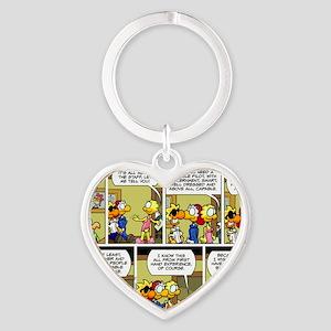 2L0073 - Secret of success Heart Keychain