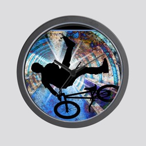BMX in a Grunge Tunnel Wall Clock