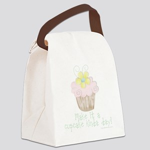Flower Cupcake Canvas Lunch Bag