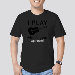 I play Guitar Men's Fitted T-Shirt (dark)