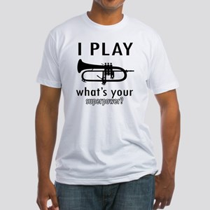 I play Trumpet Fitted T-Shirt