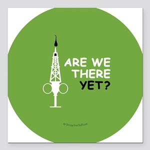 "Hypo-Derrick - Are We Th Square Car Magnet 3"" x 3"""
