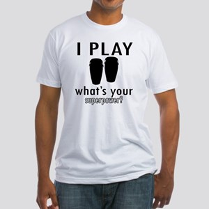 I play Conga Fitted T-Shirt