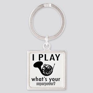 I play French horn Square Keychain