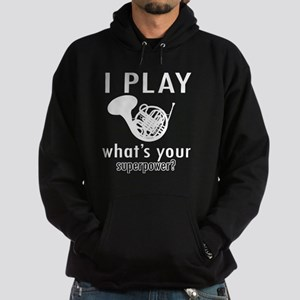 I play French horn Hoodie (dark)
