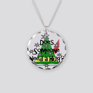 Elf - Does Someone Need a Hu Necklace Circle Charm