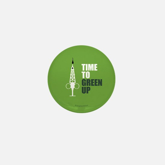Hypo-Derrick - Time to Green Up Mini Button