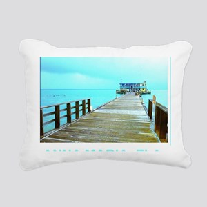 Cool Rod & Reel Pier Rectangular Canvas Pillow
