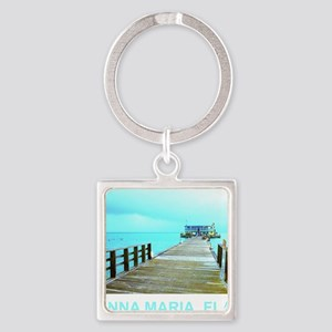 Cool Rod & Reel Pier Square Keychain