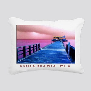 Pink and blue Rod & Reel Rectangular Canvas Pillow