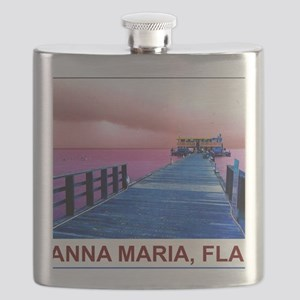 Pink and blue Rod & Reel Pier Flask