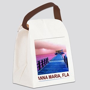 Pink and blue Rod & Reel Pier Canvas Lunch Bag