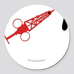 Hypo-Derrick (Red/White) Round Car Magnet