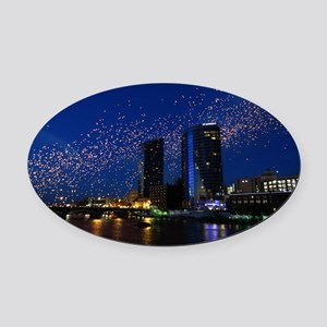 Lights in the Night GR 9-28-12 Oval Car Magnet