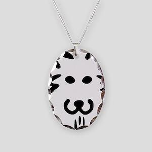 Dog-o-Lantern pumpkin face Necklace Oval Charm