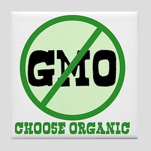 Say No to GMO Tile Coaster