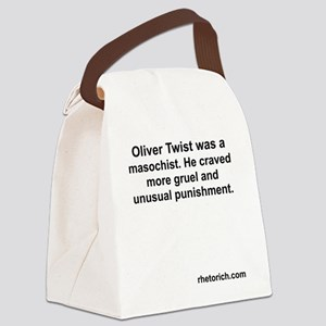 What Oliver Twist Wanted Canvas Lunch Bag