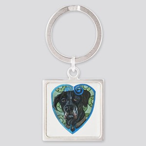 Great Dane Square Keychain