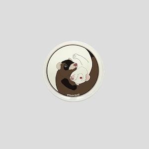 Yen-Yang Ferrets Mini Button