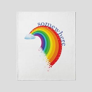 Somewhere Over the Rainbow Throw Blanket