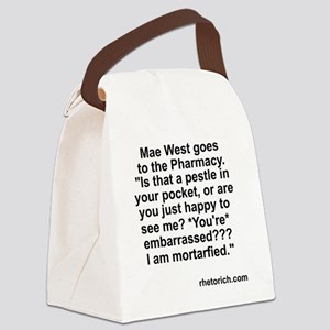 Mae West at the Drugstore Canvas Lunch Bag