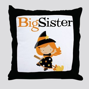 Witch Big Sister Throw Pillow