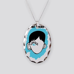 "WONDER ""Cool Beans"" Necklace Oval Charm"