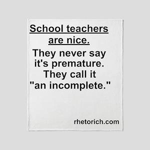 School Teachers Throw Blanket