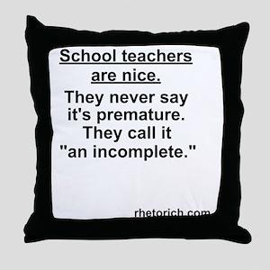 School Teachers Throw Pillow