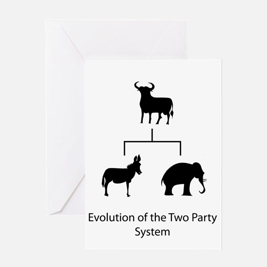 Evolution of the Two Party System Greeting Card