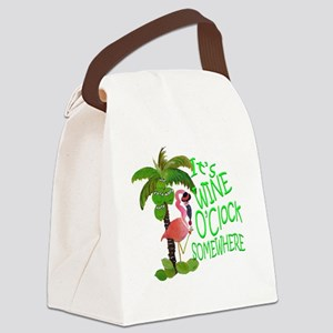 Its Wine OClock Somewhere Canvas Lunch Bag