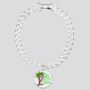 Its Wine OClock Somewher Charm Bracelet, One Charm