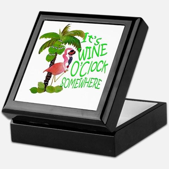 Its Wine OClock Somewhere Keepsake Box