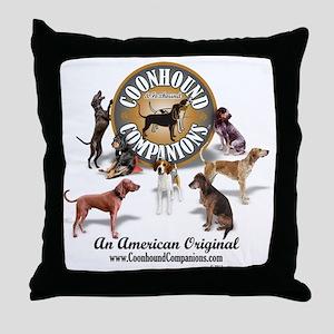 Logo + hounds Throw Pillow