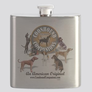 Logo + hounds Flask
