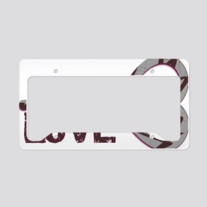 Infinite Love License Plate Holder