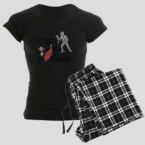 Crypts Vs. Bloods Women's Dark Pajamas