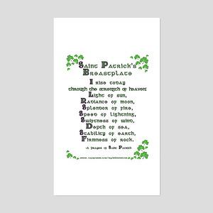 Saint Patrick's Breastplate Rectangle Sticker