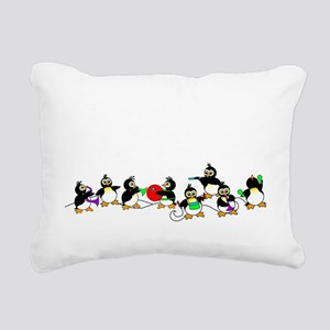 PenguinTD Rectangular Canvas Pillow
