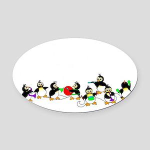 PenguinTD Oval Car Magnet