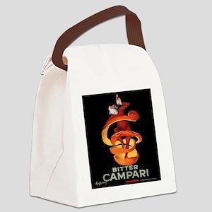 Vintage Italian Cappiello Campari Canvas Lunch Bag