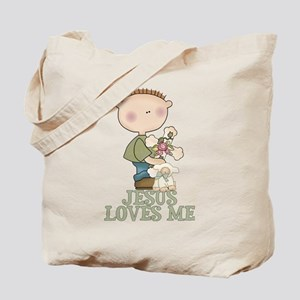 Jesus Loves Me (Boy) Tote Bag