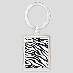 Zebra Animal Print Portrait Keychain