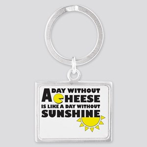 A Day Without Cheese Landscape Keychain