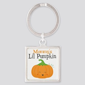 Mommys Little Pumpkin Square Keychain