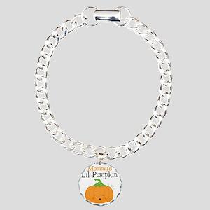 Mommys Little Pumpkin Charm Bracelet, One Charm